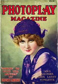 1914 Photoplay magazine cover featuring Florence Lawrence