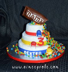 M&M cake (all Rice Krispie Treats)
