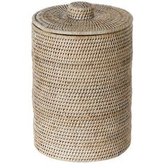 The Small Espresso Wicker Waste Basket Is A Stylish Alternative To Having Plastic Trash Can In Sitting Area Baskets Pinterest