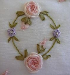 Silk Ribbon Embroidery: Tutorial - Spider Web Rose by sheila.moose