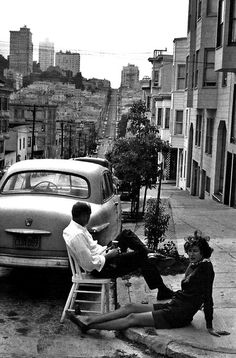 WEBSTA @ historicalpix - Summer in San Francisco. Photo by Henri Cartier-Bresson. Henri Cartier Bresson, Candid Photography, Vintage Photography, Urban Photography, Color Photography, Street Photography People, Landscape Photography, Portrait Photography, Nature Photography