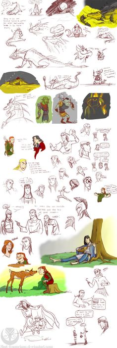 Pinning mainly for the adorable little kid Maedhros sketches! *gasp* Please excuse the slight bathroom humor in one of the gags...