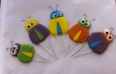 Colorful Insects Plant Stakes Fused Glass by YaliGlassArt on Etsy