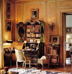 The Enchanted Home: Charming room design design interior design room design decorating before and after Estilo Ivy League, Beautiful Interiors, Beautiful Homes, French Interiors, Victorian Castle, Chateau Hotel, English Interior, English Decor, Enchanted Home