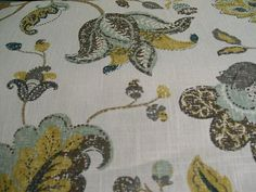 Floral Print- Set 22, 40- Linen by the YARD