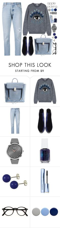 """Apple Picking!"" by nvoyce ❤ liked on Polyvore featuring 3.1 Phillip Lim, Kenzo, RE/DONE, BOSS Black, Essie, Estée Lauder, Burberry and applepicking"