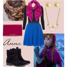 """""""Anna from Frozen"""" by megthefairy on Polyvore"""