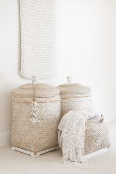 Baskets for hiding all those not so pretty bits and pieces around our home