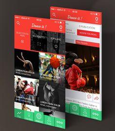 Mobile App Design Inspiration – Dance It ! (free app)
