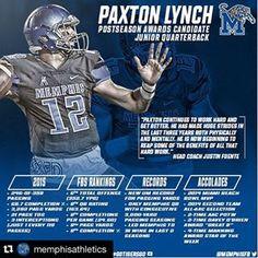 University of Memphis Athletics - Quarterback Paxton Lynch