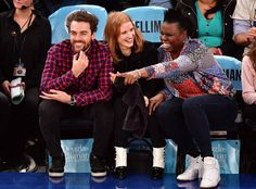 Gian Luca Passi de Preposulo, Jessica Chastain & Leslie Jones from The Big Picture: Today's Hot Photos  Friends or fans?! The group is seen having a blast at the Lakers vs. Knicks game in NYC.