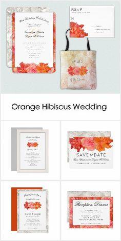 Orange Hibiscus Wedding