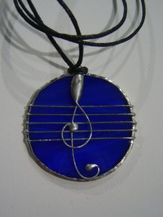 Tiffany Stained Glass Pendant stave by ArtesanaPL on Etsy