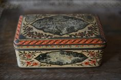 Primitve Dutch Tin Biscuit Box with Dutch Royal by PinkMountains, $12.00