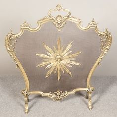 Victorian Fire Screens | VICTORIAN BRASS FIRE SCREEN