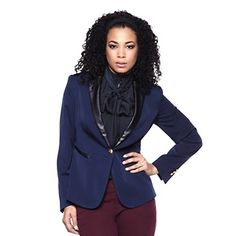 This daring blazer will go great with so many outfits!  Perfection! #HSN #FallFashion