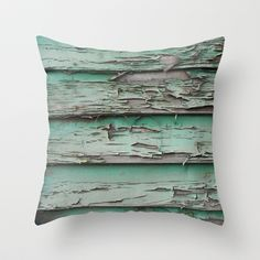 erode Throw Pillow ----------------------------------------- Wood house home style furniture mint teal wall art artwork alternative astrazero couch sofa bed style cushion