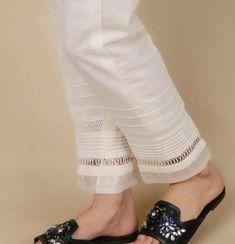 Kurti Sleeves Design, Sleeves Designs For Dresses, Dress Neck Designs, Gharara Pants, Salwar Pants, Kurta Designs Women, Salwar Designs, Frock Fashion, Fashion Pants