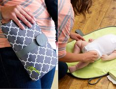 10 Best Changing Clutches  Big diaper bags are great, but believe us: You're going to want one of these super-portable changing clutches. Toss it into the big bag, or when you want to travel light, grab just it, and have baby's essentials at your fingertips.