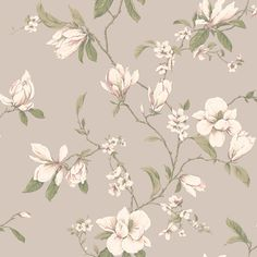 Callaway Cottage CT0825 Magnolia Branch Wallpaper