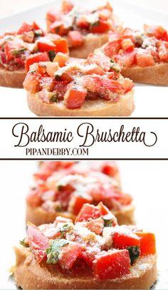 Balsamic Bruschetta |  #Balsamic #Bruschetta