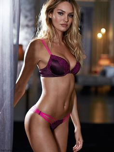Candice Swanepoel looks smouldering for Victoria's Secret lingerie