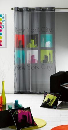 Voilage URBAN POP Stores, Decoration, New York, Curtains, Urban, Pop, Home Decor, Decor, New York City