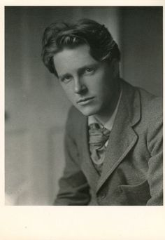 """English poet Rupert Brooke.  """"If I should die, think only this of me: That there's some corner of a foreign field That is forever England."""""""