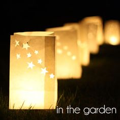 In The Garden | Wedding Reception Decorations & Ideas For Outdoor Wedding Venue Decorations: Bunting, Lanterns, Signs, Buckets