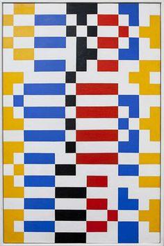 Leon Polk Smith, Center Columns, Blue Red, 1946 Oil on panel.jpg