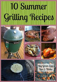 10 Summer Grilling Recipes.  This is a great collection of things to try on the grill.