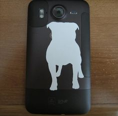 Pit Bull PDA/Phone Decal by DogParkPublishing on Etsy, $3.50