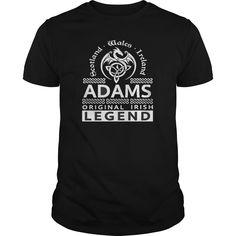 Best ADAMS Original Irish Legend Name -front Shirt