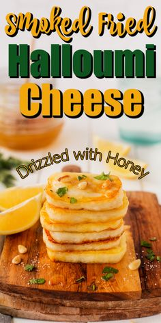 This Smoked Fried Halloumi Cheese is a perfectly original appetizer or snack to serve! Fried Halloumi, I Foods, Food And Drink, Appetizers, Vegetarian, Cheese, Snacks, Cooking, Recipes
