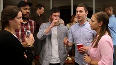 Man At Party Comes Crawling Back To Conversation He Thought He Could Do Better Than