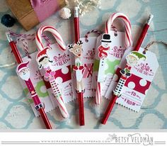 Christmas Treat Tags by Betsy Veldman for Papertrey Ink (October 2015)