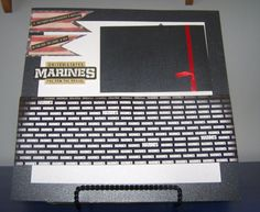Marine Corps Scrapbook Page. Marines Wall Art. by 1OfAKindCrafts