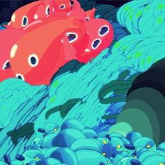 #animation #fish #water #drawing #loops #vos by ori toor, via Flickr
