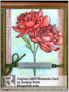 Capture Life's Moments Card by Audrey Pettit | www.rangerink.com using Tim Holtz, Ranger, Idea-ology, Sixxiz and Stamper's Anonymous products; Apr 2015