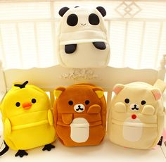 Sprouting lazy bear chick Panda elephants towels fabric bag backpack cartoon chicks arrive Biggest sale of the season. l Totes! Save up to 80% off. $25.99 3d-bags.jp.pn