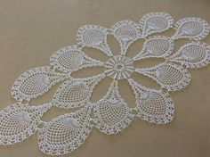 Oval crochet doily, new hand c Free Crochet Doily Patterns, Crochet Diagram, Filet Crochet, Thread Crochet, Crochet Designs, Crochet Table Runner, Crochet Tablecloth, Crochet Dollies, Crochet Flowers