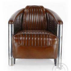 Fauteuil-club-cuir-marron-vintage-Aviator