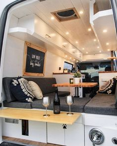 This van was built for a couple from Oklahoma, inspired by their thru-hiking on the Appalachian trail. They wanted a minimized lifestyle with their two kitties, and are quitting their jobs to pursue van life full time! camping and hiking The Big Gigantic Interior Trailer, Van Interior, Interior Ideas, Motorhome Interior, Mini Motorhome, Camper Interior Design, Modern Interior, Modern Decor, Oklahoma