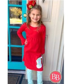 #CountdowntoChristmas Our Red & Lime Snowman Stripe Legging Set is the perfect outfit for the upcoming holiday celebrations!! Add your child's monogram for a personalized Christmas!! • Sizes 2 to 10!! • $37.99 #BBKids #Christmas #holidays #monogram www.brandisboutiqueshop.co > Kids > Holiday Outfits > Christmas