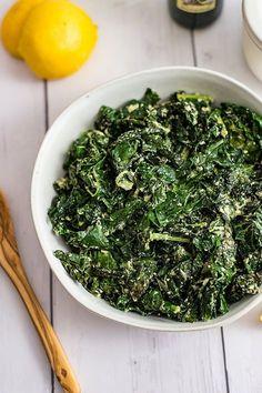 Creamy Kale. Low carb, keto, LCHF, Diabetic #veggies #sides