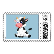 Animated Cow Stamp
