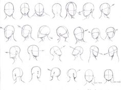 Image result for drawing manga heads from different angles