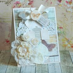 Card with lace- Leas Cupcakes & Sunshine