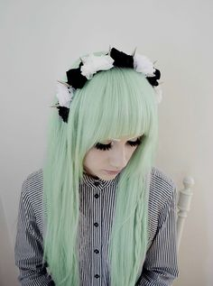 Mint hair #bright #pastel #dyed #hair