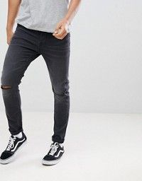 e9300b71c5f River Island   River Island skinny fit jeans with knee rips in mid wash blue